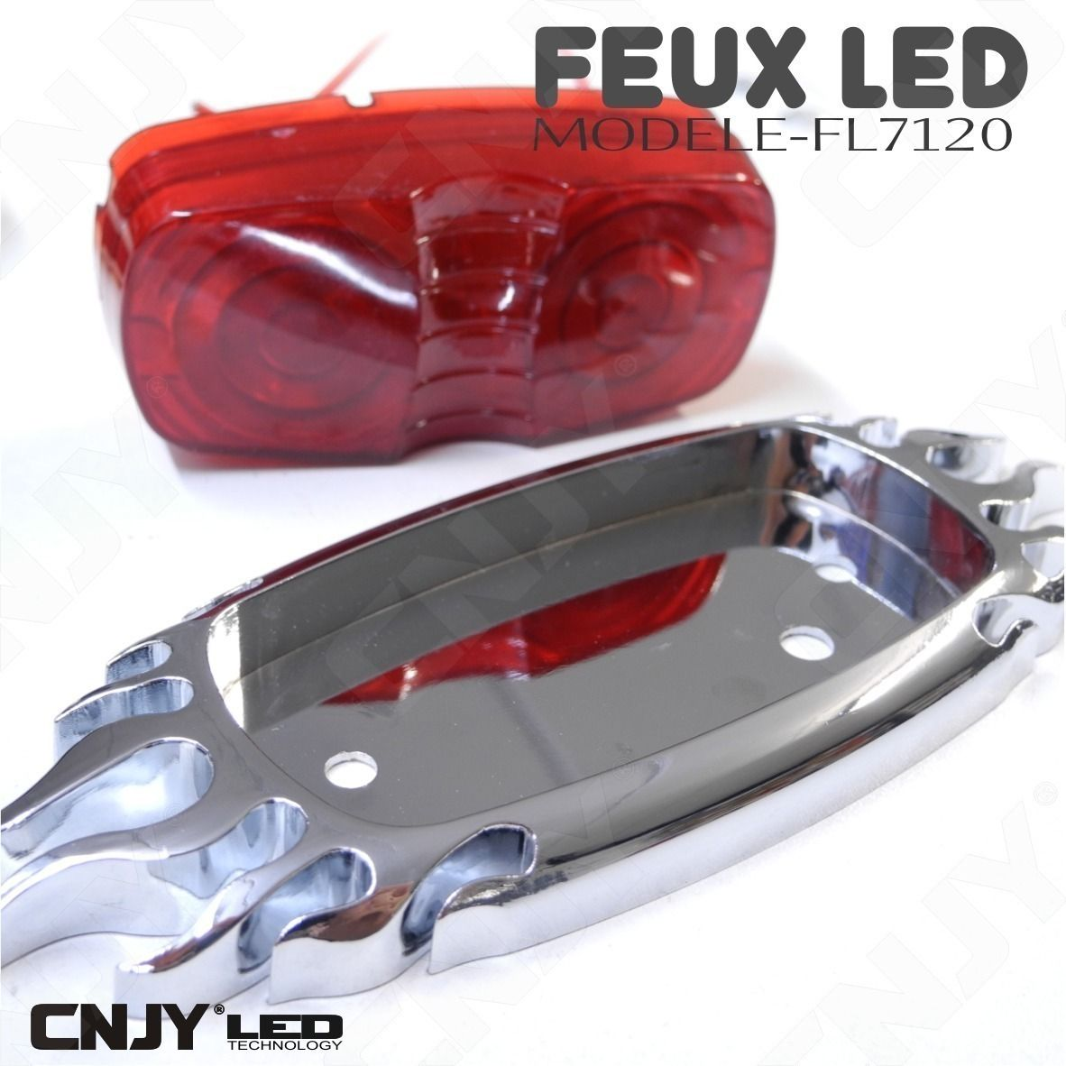 feux, flaming, flamme, stop, position, a, led, rouge, auto, moto, quad, chopper, topcase, 12v