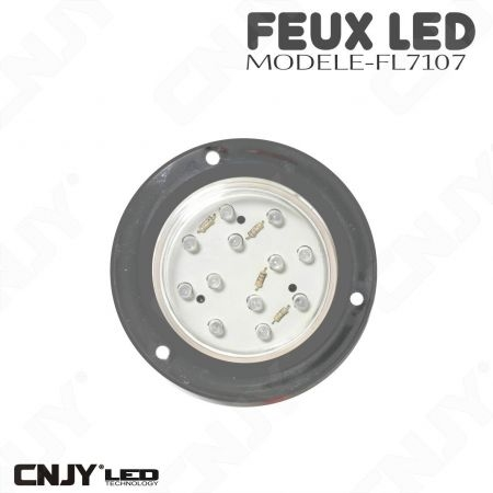 Feu stop position dôme chromé à led orange rouge 12V 24V