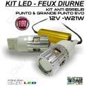 KIT 2 LED T20 7443 W21W AVEC ANTI ERREUR POUR FEUX DE JOUR FIAT GRANDE PUNTO EVO
