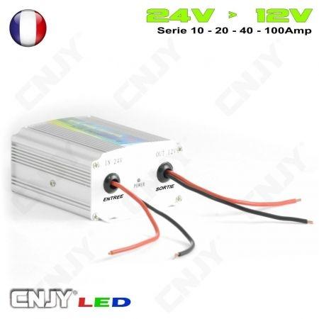 Transformateur convertisseur de tension 24V-12V pour montage d'éclairage LED