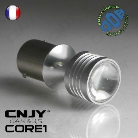 1 AMPOULE LED BLANC CNJY CORE1 BA15S P21W CANBUS ANTI ERREUR ODB FEUX JOUR DIURNE SEAT MII LEON IBIZA ALTEA XL