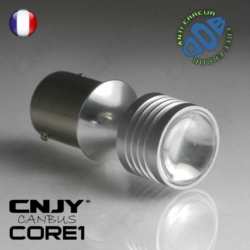 1 AMPOULE LED BLANC CNJY CORE1 BA15S S25 P21W CANBUS ANTI ERREUR ODB FEUX JOUR DIURNE