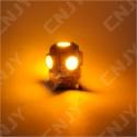 AMPOULE 5 LED SMD ORANGE T10 W5W 24V DC -CULOT W2.1x9.5D POUR VEILLEUSE, FEUX DE PLAQUE, GABARIT CAMION