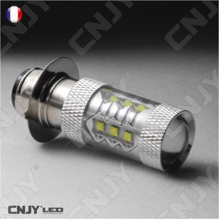 AMPOULE LED H6M P15D 12V/24V CREE LED XPE 80W POUR PHARE FEUX MOTO QUAD SCOOTER