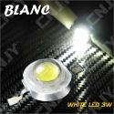 LOT DE 5 LED DEL 8MM 1W 3W SOUDER COULEUR BLANC FROID 6000K 3V