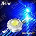 LOT DE 5 LED DEL 8MM 1W 3W A SOUDER COULEUR BLEU 3V