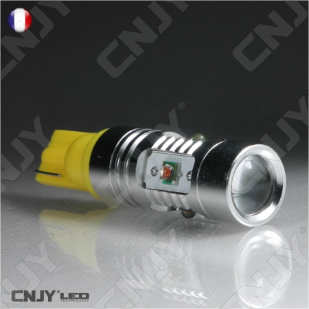 1 AMPOULE LED W5W T10 CREE 25W 24V ORANGE BULDOGLED 360°