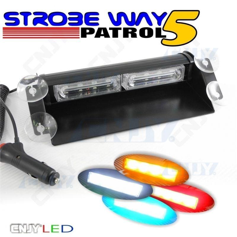 Feux à éclat led de pénétration à ventouse pour pare brise SWP5 8W 12V orange blanc bleu rouge vert