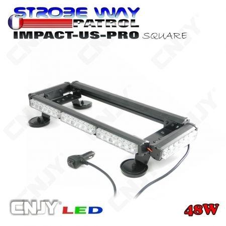 Gyrophare led magnétique SWPI 48W rampe de toit 60cm - colori au choix