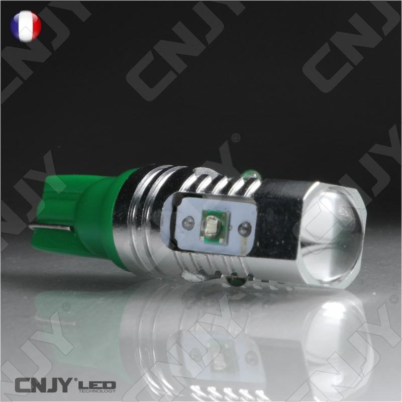 1 ampoule led w5w t10 cree 25w 24v vert buldogled 360. Black Bedroom Furniture Sets. Home Design Ideas