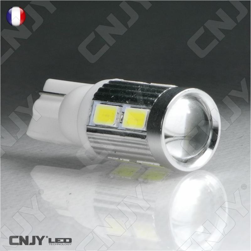 AMPOULE LED T10 W5W 12V OSRAM 10W BLANC VEILLEUSE AUTO MOTO QUAD W2.1x9.5D