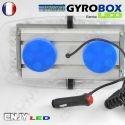 Gyrophare led blanc et orange magnétique Gyrobox 24W rampe extra plat