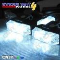 Feux de pénétration à clips pour grille de calandre 12V 24V Blanc