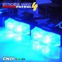 Feux de pénétration à clips pour grille de calandre 12V 24V bleu