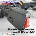 Strobe way patrol 4 kit de feux pénétrant à éclat led blanc bleu rouge orange vert pour grille de calandre 12V 24V