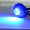 Feu à éclat led bleu 12v 24V ovale pour moto