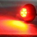Feu à éclat led rouge 12v 24V ovale pour moto
