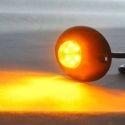 Feu à éclat led orange 12v 24V ovale pour moto