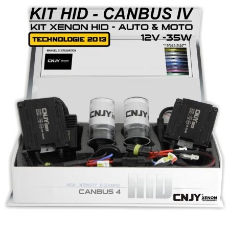 KIT XENON H4-DOUBLE HID BALLAST SLIM CNJY CANBUS 4 TECHNOLOGIE ANTI ERREUR ODB 2017 !!