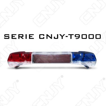 RAMPE GYROPHARE SERIE T9000 A LED & PANNEAU D'INFORMATION INTEGRE