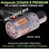 Ampoule led sonar 8 anti erreur odb et anti clignotement rapide Py21W à led orange culot bau15s compatible 2018