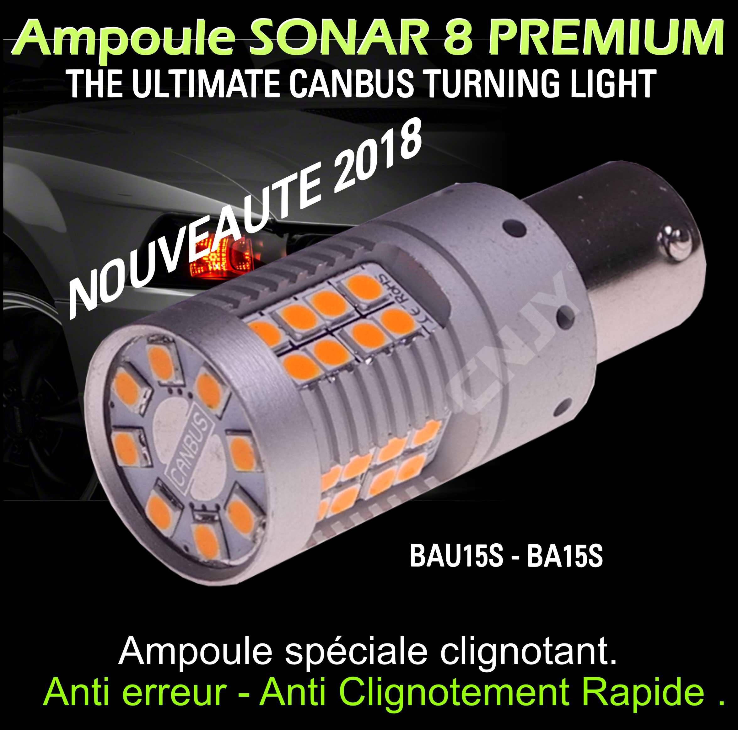 Orange Ampoule Sonar Bau15s Et Anti 8 Py21w Clignotement Led Rapide Canbus UzMqSVGp
