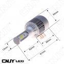 KIT DE CONVERSION LED H15 PGJ23T-1 ELISTAR V3 VENTILEE 30W ULTIMATE CANBUS 12/24V GOLF 6