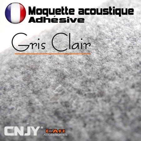 ROULEAU DE MOQUETTE ACOUSTIQUE ADHESIVE GRIS 70/140cm