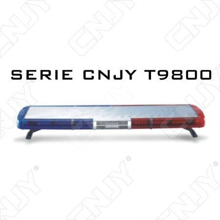 Gyrophare led 168W rampe de toit 70 à120cm T9800 avec sirène bleu rouge orange