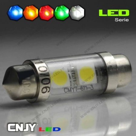 AMPOULE LED NAVETTE C5W 36mm 24V DC