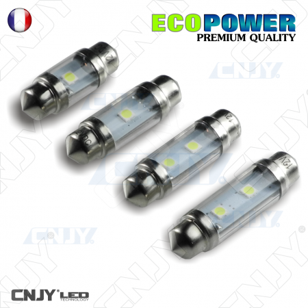 AMPOULE LED C3W-C5W-C10W CREE XTE NAVETTE 24V BLANC PLAFONNIER AUTO BATEAU WHITE FESTOON