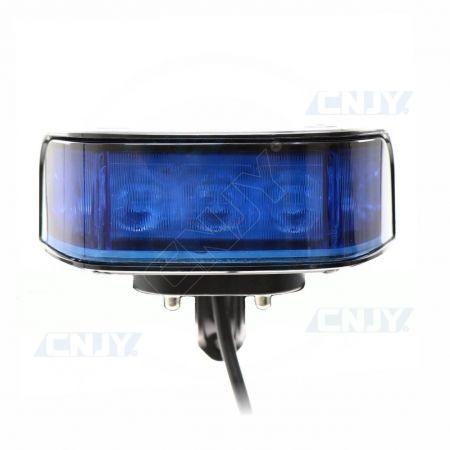 Feu à éclat led motard frontal SWP9 Bleu