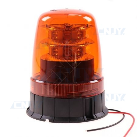 Gyrophare led orange 16W pose libre à vis 12V 24V