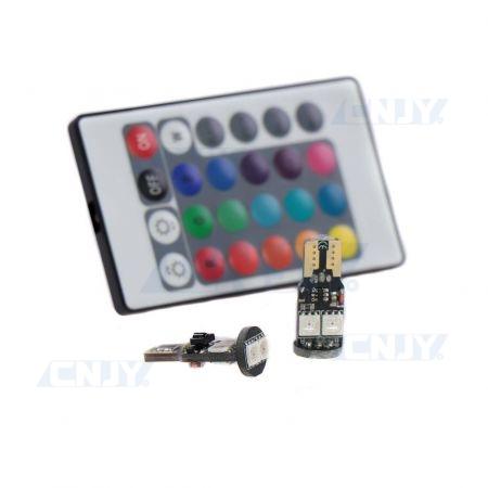 AMPOULES LED T10 W5W RGB MULTICOULEUR