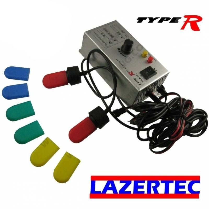 KIT PACE CAR LAZERTEC 1U STROBE LIGHT POUR PHARE & ANTI BROUILLARD FOGLIGHT 12V FLASH -PACE CAR -GYROPHARE F1