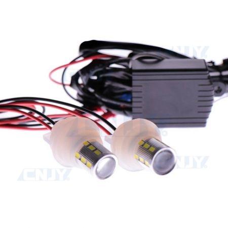 Kit 2 ampoules led stroboscopiques sur support silicone pour optique
