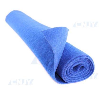 Rouleau de moquette acoustique bleu 70/140cm