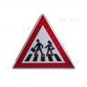 """Panneau routier de signalisation """"PASSAGE PIETON"""" à led autonome"""