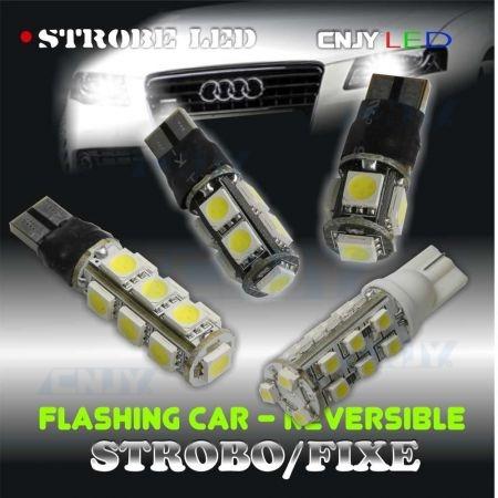 Ampoule de veilleuse à led SMD fixe et stroboscopique 12V 24V