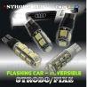 Ampoule veilleuse led strobo clignotante flash w5w T10