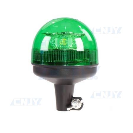 Gyrophare led 24W vert sur mât rigide ECE R65