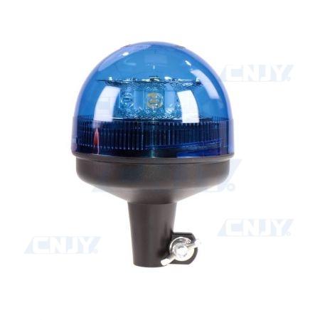 Gyrophare led 24W bleu sur mât rigide ECE R65