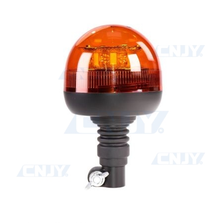 Gyrophare led 24W orange sur mât flexible ECE R65