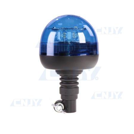 Gyrophare led 24W bleu sur mât flexible ECE R65