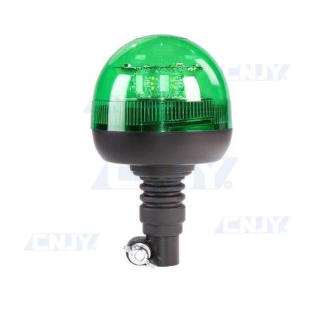 Gyrophare led 24W vert sur mât flexible ECE R65