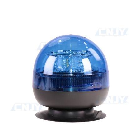 Gyrophare led bleu 24W boule magnétique ECE R65