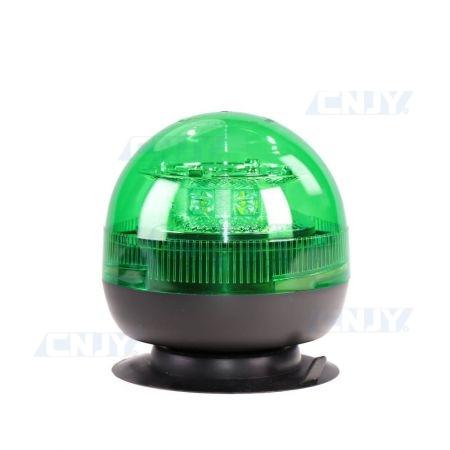 Gyrophare led vert 24W boule magnétique ECE R65