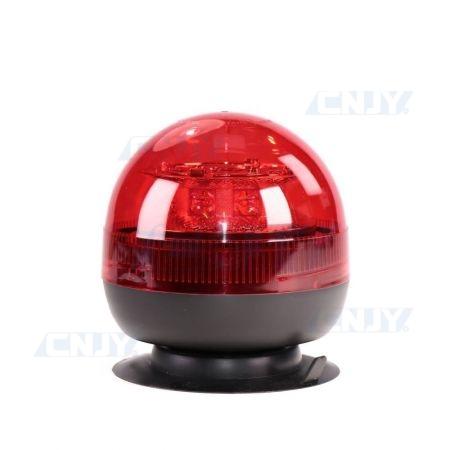 Gyrophare led rouge 24W boule magnétique ECE R65