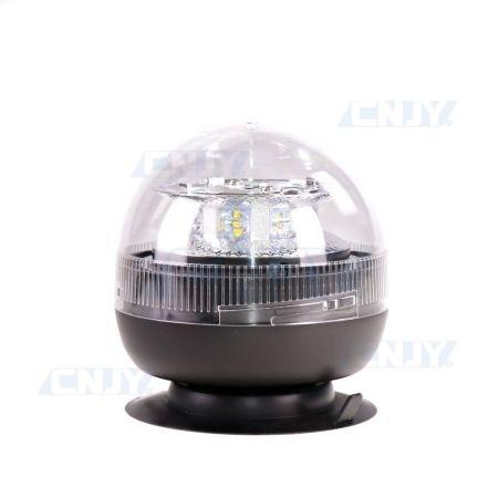 Gyrophare led blanc 24W boule magnétique ECE R65