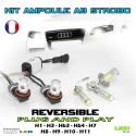 KIT 2 AMPOULES LED ANTI BROUILLARD STROBO/FIXE STROBOSCOPIQUE FLASH PACE CAR 12V